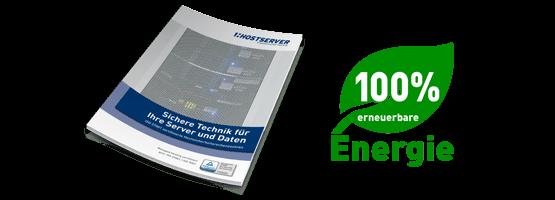 Hostserver GmbH Hochsicherheitsrechenzenten Standort Deutschland grüner Strom