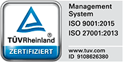 Managed Server ISO 27001 IT Sicherheit ISO 9001 Qualitätsmanagement zertifiziert